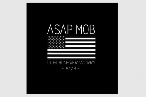 ASAP Rocky Announces ASAP Mob Debut Album, Title, Artwork and Release Date Over the weekend ASAP Rocky announces the upcoming ASAP Mob 'Lords Never Worry' album title, as well as the official release date – August 28, 2012. Furthermore we can already present you the official artwork, which is rather simple and plays with the popular American Flag graphic.