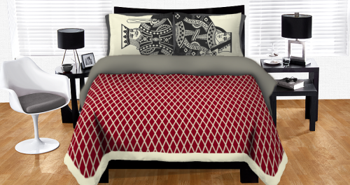 I really like this great bed cover design, King and Queen of the Hill by Arturw, and it's up for scoring over at Threadless as part of their Bed Bath & Beyond design challenge! There are actually 2 days left to submit bed cover designs so I might have a go at making one myself…