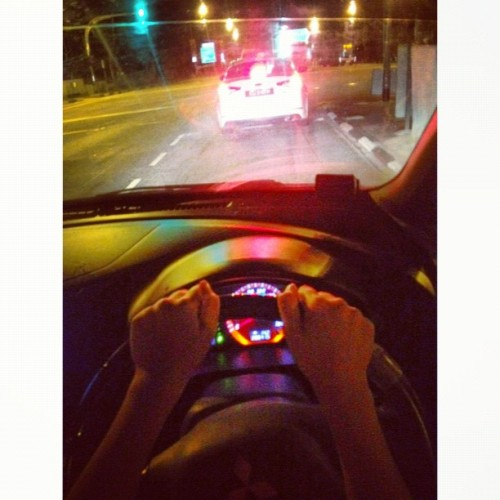 I can #ibite too!!! #latenightdrive #drive #car #igsg  (Taken with Instagram)