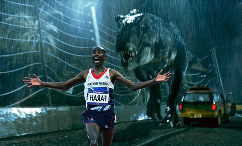 When there's simply no time to do the #mobot (via Mo Farah Running Away From Things)