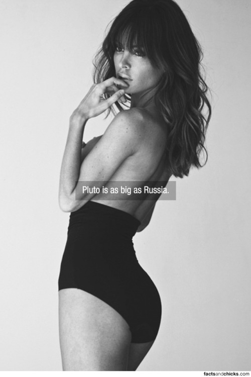 factsandchicks:  Pluto is as big as Russia. source