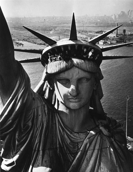 joshueregourd:  The face of Liberty, New York by Margaret Bourke-White
