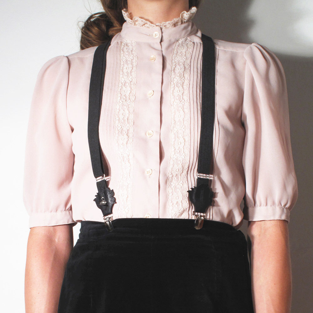 (via SWANclothing — SWANclothing Rose Suspenders in Black.)