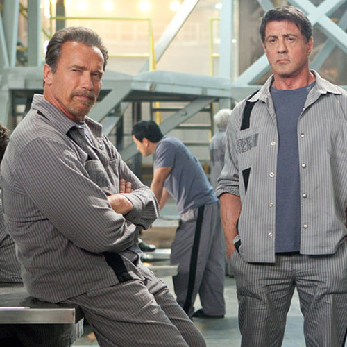 Latest image of Arnold and Sly in upcoming thriller The Tomb