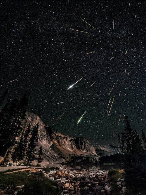 howweknewit:  2012 Perseids meteor shower over the snowy range in Wyoming
