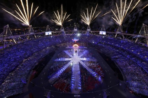 Olympics Photo of the Day: Fireworks explode during the closing ceremony of the London 2012 Olympic Games at the Olympic Stadium August 12, 2012. Well, that was fun.  via
