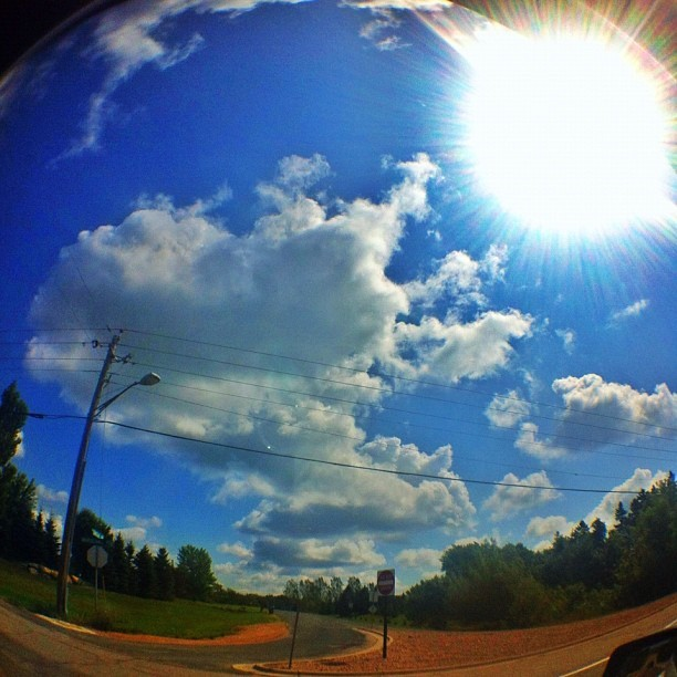 Oh shit here we go again. #clouds #cloudporn #sun #fisheye #minnesota #picoftheday #photooftheday #igers #iphonegraphy #picoftheday (Taken with Instagram)