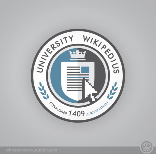 "University Wikipedius has reopened on shirt.woot!""Enrollment"" lasts one week only so better sign up quick!Options available: Hoodie - Long sleeve tee - V neck - Tote bag"