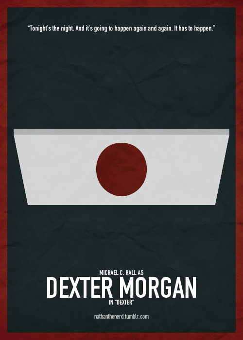 Nathan's Top 20 TV Characters↳ #4 - Dexter Morgan - Dexter