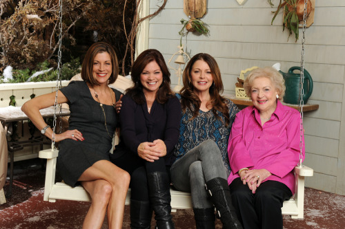 "hotinclevelandblogs:  Season 4 of Hot in Cleveland Premieres Wednesday, November 28 10/9C ! Production begins August 27.The 'Cleveland' ladies are back and hotter than ever! Valerie Bertinelli, Jane Leeves, Wendie Malick and Betty White return for the fourth season of TV Land's hit sitcom ""Hot in Cleveland,"" taping in front of a live studio audience on Friday, August 31, and premiering Wednesday, November 28 at 10pm ET/PT. TV bombshell Heather Locklear (""Dynasty,"" ""Melrose Place,"" ""Spin City"") and Jay Harrington (""Better Off Ted"") will both be in multi-episode arcs, and Regis Philbin returns for the season premiere. Additionally, Georgia Engel (""The Mary Tyler Moore Show"") and Michael McMillian (""True Blood"") will reprise their roles – Engel as Mamie, who has a love/hate friendship with Elka (White), and McMillian as Owen, the long-lost son that Joy (Leeves) gave up for adoption.In last season finale's shocking cliffhanger, Melanie (Bertinelli), Victoria (Malick), Joy and Elka discovered a baby on their doorstep, with no idea as to whose it is and why they left it there. Tune -in Wednesday, November 28 At 10PM ET/PT to find out what happens next!  We simply cannot wait!"
