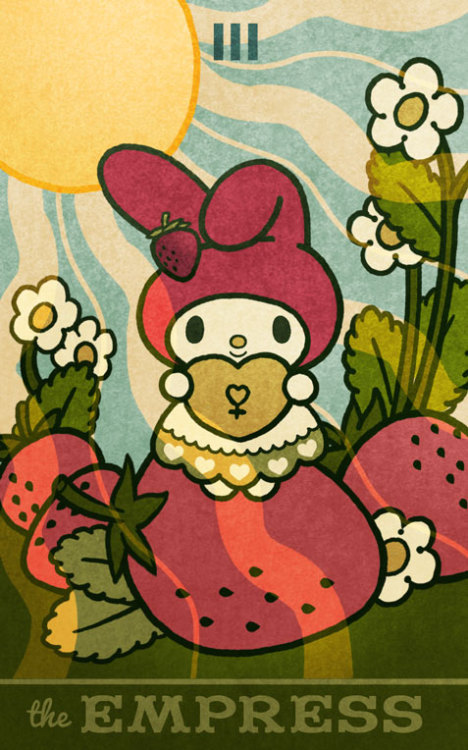 The Empress from my Hello Kitty Tarot! I am flattered that my deck was reviewed on by Melissa Hill! http://sassysibyl.com/2012/08/13/hello-kitty-tarot-redux-or-if-you-dream-it-it-will-come/