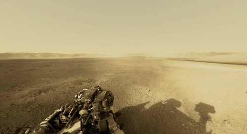 jtotheizzoe:  jtotheizzoe: Martian Sol 2: Curiosity Panorama - Cool Update!  One of the newly-released panoramic images from the Mars Curiosity rover was stitched together into an interactive version by Andrew Bodrov. Check out the interactive version here, and go hang out in Gale Crater for a while. Full screen is quite a pleasing experience.  Sorry for the self-reblog, but I had to share this with you guys. First off, if you're on your computer, click the link above and have fun touring Mars. This update isn't for you. Are you on your iPhone or iPad? Click this link, open it in Safari, and … wow. Just wow.  Mother of God.