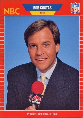 "Why I Love Bob Costas I love Bob Costas, I truly do.  This isn't my first rodeo; I've had man-crushes before.  In fact, I've had several bromances over the years.  In chronological order: Lee Majors, Pele, the dude from Emergency (dark hair), Harrison Ford, Earl Campbell, Tom Selleck, Steve Largent, Luke Perry, Matt Hasselbeck, Duane ""The Rock""  Johnson, Naveen Andrews.  They will always have a special place in my heart, but Bob is different; special.  First of all, Bob is a man, not a boy.  He brings sophistication and class to the table.  While I admire his maturity, I am amazed by his Dick Clark-like youthfulness.  Bob has not only found the Fountain of Youth, he regularly bathes in it.   I don't want to sell Bob short.  He is more than eye candy, he has substance.  Mr. Costas is what you call a great interviewer.  Exhibit A: The Lindsey Jacobellis interview at the 2006 Winter Olympics.  Bob was relentless in his questioning of Jacobellis over her showboating ""method grab"" that cost her the gold medal in the Women's Snowboard Cross.  She initially told Bob that she grabbed the rail, ""to maintain stability"", but he wasn't buying what she was selling.  Exhibit B: The Michael Phelps interview early in the 2012 Summer Olympics.  Costas questioned Phelps's conditioning after he had become the Greatest Olympian of all time.  Many people accused Bob of shaming Phelps, at a historic moment, when he should have been praised.  Sorry, please excuse Bob for doing his job, and not kissing up to the Great Michael Phelps.  Bob Costas is a journalist, and a journalist's job is to ask tough questions.  Michael Phelps's job is to eat 12,000 calories a day, look like a Muppet, and occasionally smoke ganja.   The last thing I admire about Bob Costas is his cool.  His mood, like his quaff, never changes.  Bob's voice is soothing and reassuring.  I could listen to him all day.  In fact, I would like Bob to follow me around and give the play-by-play of my day.  Then, at night, he could analyze my day and interview the people I interacted with.  I love Bob Costas, and I don't care who knows it.  However, you have probably noticed that Bob doesn't even know who I am.  That's alright Bob; I have enough love for both of us."