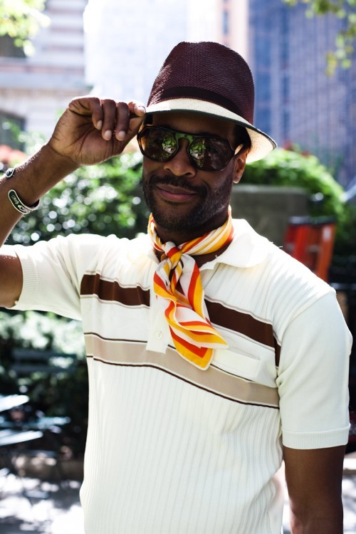 Karl-Edwin is a stylishly modern dandy…Bryant Park, NYC (via Style Clicker)
