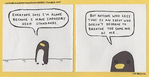 Dick Penguin is Lonely. via