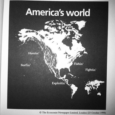 America's world via Tariq Ali's Clash of Fundamentalisms (Taken with Instagram)