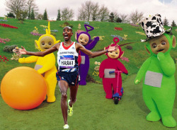 newsflick:  Splendid, has to be the best tumblr on this. Follow Mo Farah Running Away From Things.  He looks terrified.  He should be.