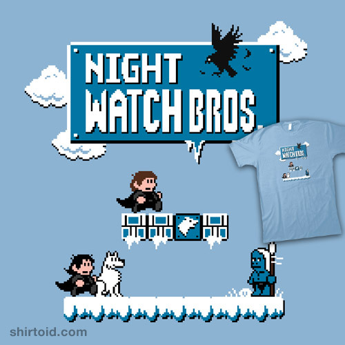 shirtoid:  Night Watch Bros available at RedBubble