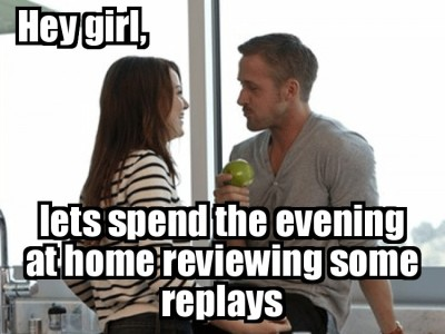 This would probably work …but then when you actually go to watch replays, she'd be like da faq is this?