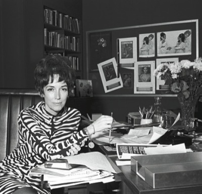Cosmopolitan editor emeritus and feminist icon Helen Gurley Brown has died at age 90, that's a nice long run. I wonder if she really will be buried in one of the Pucci dresses she famously had put away for that occasion. (photo via Helenism : The New Yorker)
