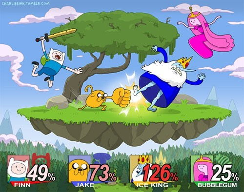 final-five:  Adventure Time meets Super Smash Bros. Why isn't this a thing?