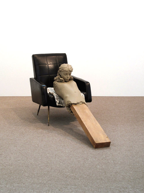 Artist from Netherlands Mark Manders. Ramble Room Chair 2010.His Gallery is ZenoX in Antwerpen.Contemporary-Art-Blog