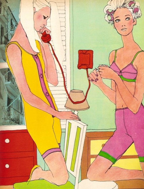 Antonio Lopez, Elle Magazine 1967(via Inspirational Imagery)