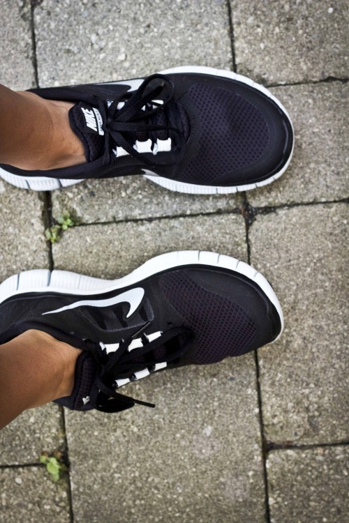 searchingforbliss:  Current dilemma: do I want black and white running shoes or brightly colored running shoes?