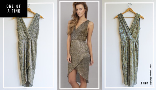 ONE OF A FIND — TFNC Florence Metallic Dress Photo:  TFNC London