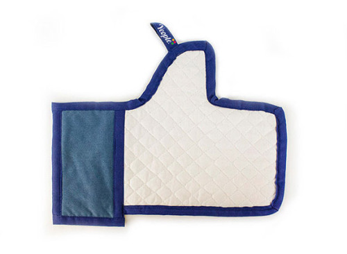 "Facebook ""Like"" Button Oven Mitt"