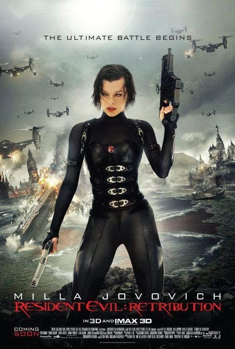 "RESIDENT EVIL: RETRIBUTION Director: Paul W.S. Anderson Writer: Paul W.S. Anderson Stars: Milla Jovovich, Sienna Guillory and Michelle Rodriguez Synopsis:  The wildly successful film franchise adaptation that has grossed nearly $700 million worldwide to the popular video game series, ""Resident Evil,"" returns in its highly anticipated fifth installment, ""Re5ident Evil: Retribution"" in state-of-the art 3D. The Umbrella Corporation's deadly T-virus continues to ravage the Earth, transforming the global population into legions of the flesh eating Undead. The human race's last and only hope, Alice (Milla Jovovich), awakens in the heart of Umbrella's most clandestine operations facility and unveils more of her mysterious past as she delves further into the complex. Without a safe haven, Alice continues to hunt those responsible for the outbreak; a chase that takes her from Tokyo to New York, Washington, D.C. and Moscow, culminating in a mind-blowing revelation that will force her to rethink everything that she once thought to be true. Aided by newfound allies and familiar friends, Alice must fight to survive long enough to escape a hostile world on the brink of oblivion. The countdown has begun."