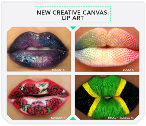 We're in awe of these lip art masterpieces from our own community members!