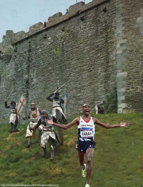 Mo Farah is the BEST. RUN AWAY, RUN AWAY!