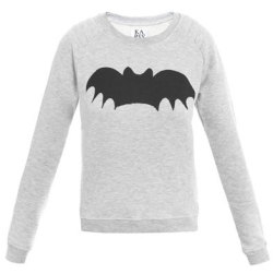 truebluemeandyou:  DIY Inspiration: $123 Zoe Karssen Bat Print Sweater here. I've seen this on several fashion sites like FASHnCHIPS here. How easy would this be to do with either fabric and fusible material or even the t-shirt iron on transfers here (no affiliate link)? For lots of different bat templates go to google here or here.