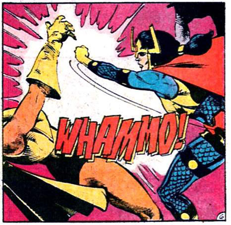 rraaaarrl:  rraaaarrl:  WHAMMO  Let's have a Big Barda retrospective, shall we?