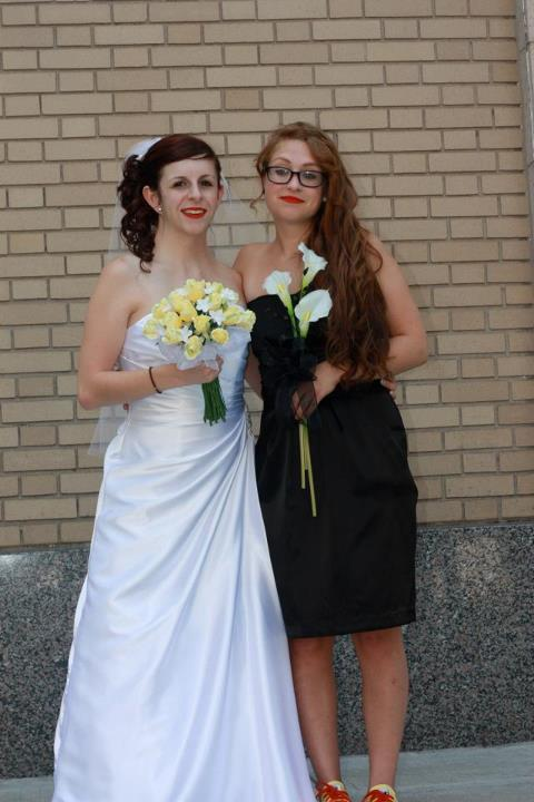 My best friend and I on her wedding day.