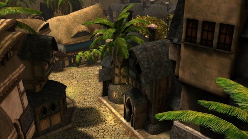 My favorite part of Divinity's Reach, the Ossan Quarter.