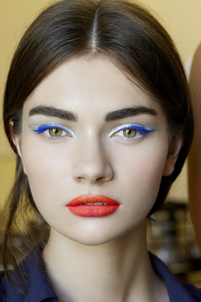 Antonia Tonya Vasylchenko backstage at Christian Dior Fall 2012 Couture