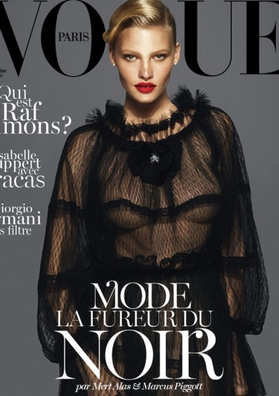 Lara Stone photographed by Mert Alas & Marcus Piggott on Vogue Paris September 2012
