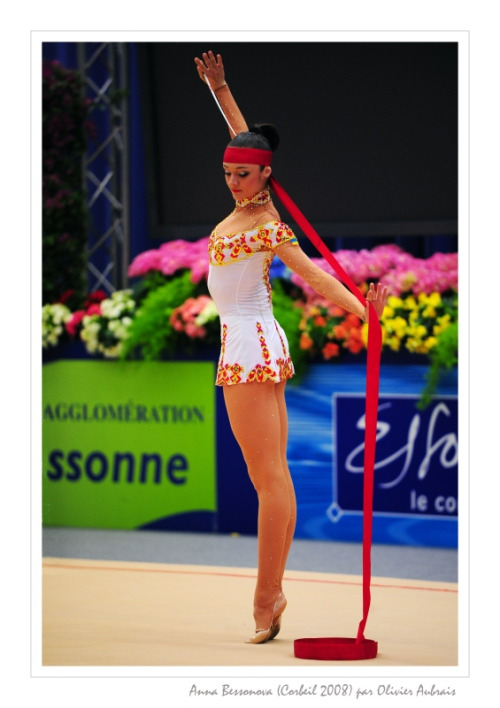 Anna Bessonova is my star in rhytmic gymnastics and I doubt that somebody will ever be better that the queen of the elegance! She makes art out of this sport!