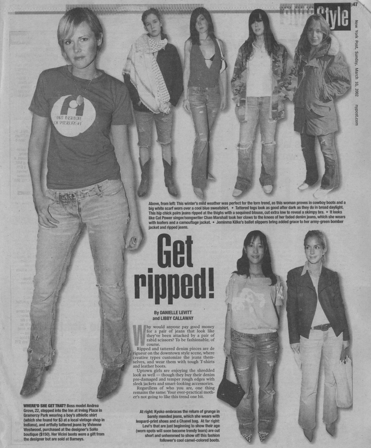 NY POST STREET FASHION!!!! Ripped Jeans are cute…Ripped jeans made into shorts are even cuter!