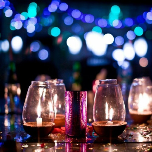 A #Candlelight #Wedding #Dinner. #lights #bokeh (Taken with Instagram)