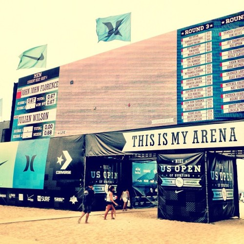 Scoreboard. (Taken with Instagram at Nike US Open of Surfing 2012)
