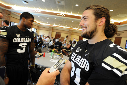 FOOTBALL Young CU Buffs not lacking leaders Ask 10 different veterans on the Colorado football team who the leader of the team is and you get eight different answers. Coach Jon Embree welcomed the results of that informal poll conducted by the Camera on media day Saturday as good news for his program. Embree said it's a sign that the 14-member leadership council he established in the offseason with representatives of every class is working. He also believes it shows his efforts are succeeding to change the culture of the fractured locker room he inherited from Dan Hawkins. For more on this, as well as a complete photo gallery and video from media day.