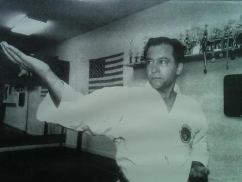 My sensei, Hanshi M.A. Sharifi. Taken at the old dojo of the Shotokan Karate Institute.