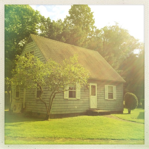 My cottage at Yale/NCMF. Jimmy Lens, Ina's 1982 Film, No Flash, Taken with Hipstamatic