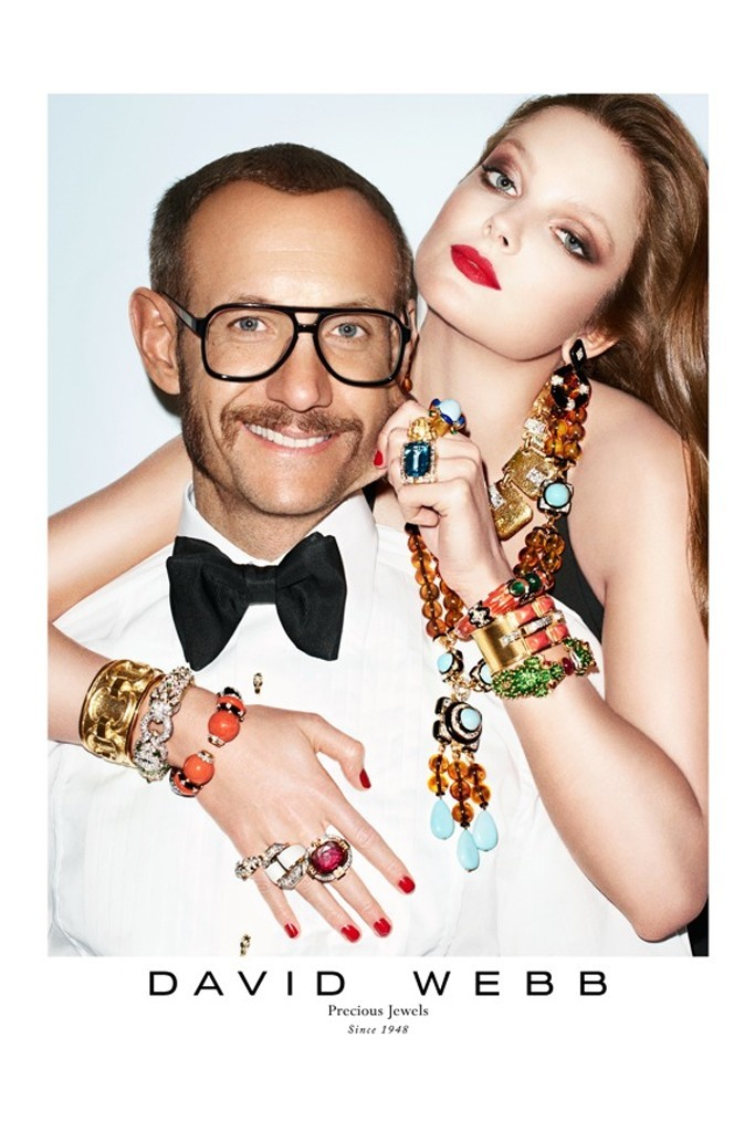 TERRY RICHARDSON + MODEL ENIKO MIHALIK for DAVID WEBB
