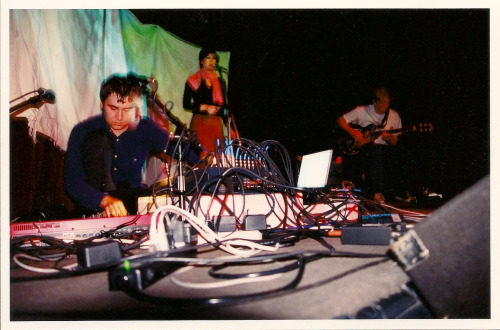 From the first Dntel show, 2001 (with Mia Doi Todd and Paul Larson). photo by Brian Tamborello