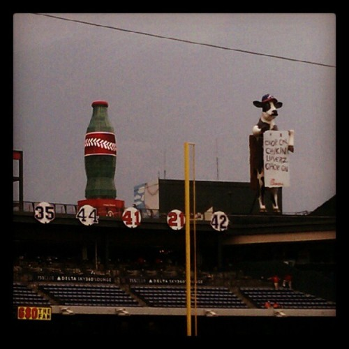 Chop on chicken lovers chop on #Atlanta #braves #chicfila (Taken with Instagram at Turner Field)