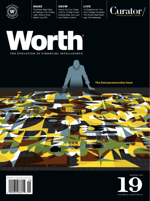 Worth #19Design director: Dean Sebring Art director/designer: Michael ShavalierIllustration: Brian Stauffer